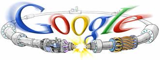 En la imagen el logo de Google con el LHC