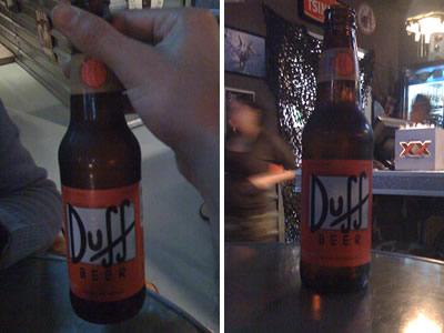 Autentica Cerveza Duff en Guadalajara