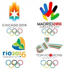 Logotipos de las ciudades candidatas a ser sedes de los Juegos Olimpicos 2016