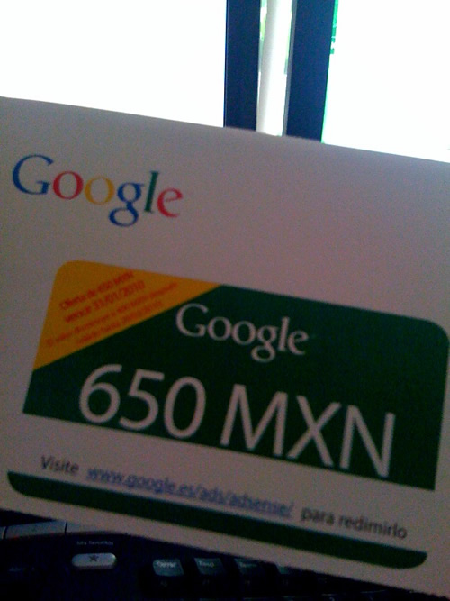 El flamante cupón de 650.00 pesos para AdWords